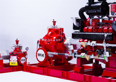 150PSI Diesel Engine Driven Fire Pump , Split Case Fire Pump Ductile Cast Iron Materials